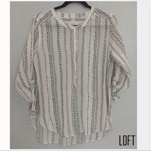 Loft Long-sleeve softened shirt, size Medium
